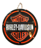 Metal Sign Harley Davidson Vintage Inspired Metal Sign- Large Black