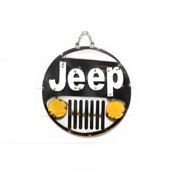 Metal Sign Jeep Vintage Inspired Metal Round 3D Sign - Jeep Sign- Jeep