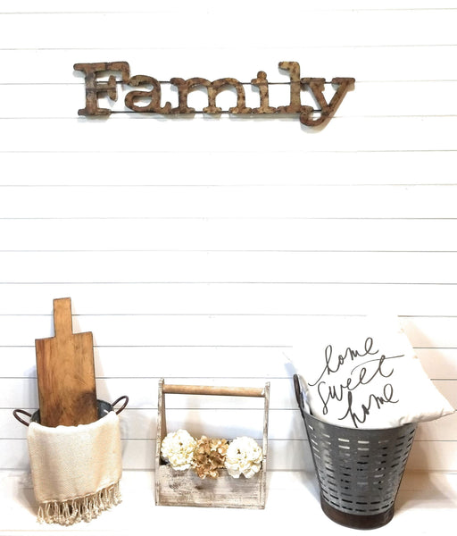 Metal Sign Large Rustic Metal Family Sign