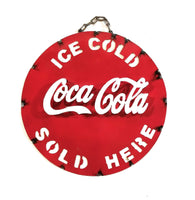 Metal Sign Vintage Inspired Coca-Cola Coke Metal Sign- Medium