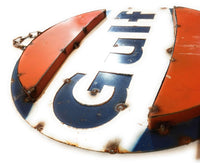 Vintage Inspired Gulf Metal Sign - Two Sizes Metal SignRanch Junkie