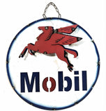 Vintage Inspired Mobil Sign Large Metal SignRanch Junkie