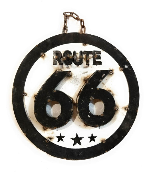 Vintage Inspired Route 66 Metal Sign- Medium Metal SignRanch Junkie