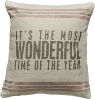 pillows Most Wonderful Time Of The Year Christmas Pillow- Holiday Pillow