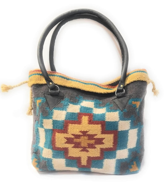 Southwestern Hand Woven 100% Wool Purse-Handbag- Boho Tote-The Isabella purseRanch Junkie