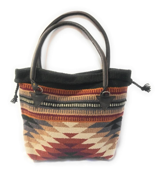 Southwestern Hand Woven 100% Wool Purse-Handbag- Boho Tote- The Pilar purseRanch Junkie