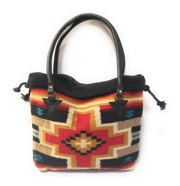 Southwestern Hand Woven 100% Wool Purse-Handbag- Boho Tote- The Pinto purseRanch Junkie