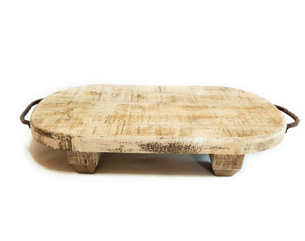Serving/Decorative Tray Farmhouse Wood Table Board Tray- The  Willow Grange- Rustic White