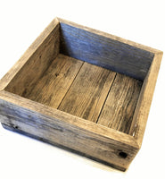 Barnwood Shadow Box Shelf, Box Style Shelf, 4 Sizes, Reclaimed Wood, Farmhouse Wall Shelf-Free Shipping shelvesRanch Junkie