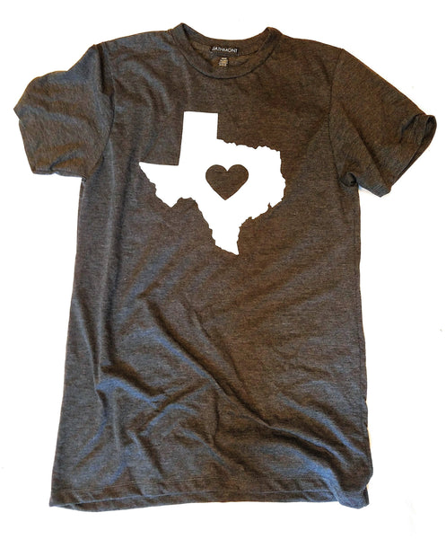 Heart Home Texas T-Shirt Heather Charcoal shirtsRanch Junkie