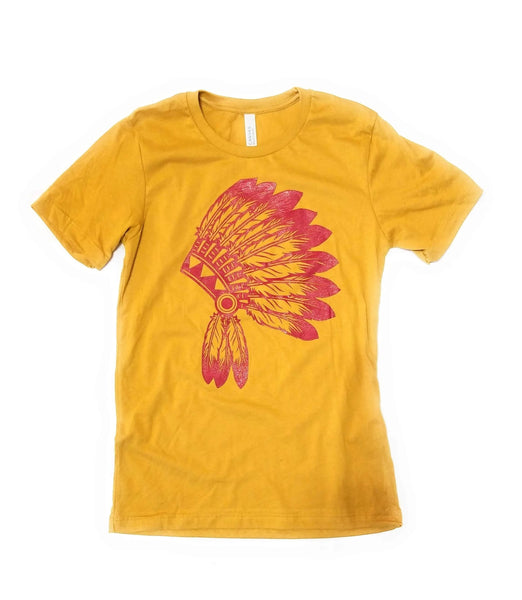 shirts Mustard Head Dress Southwestern Tee