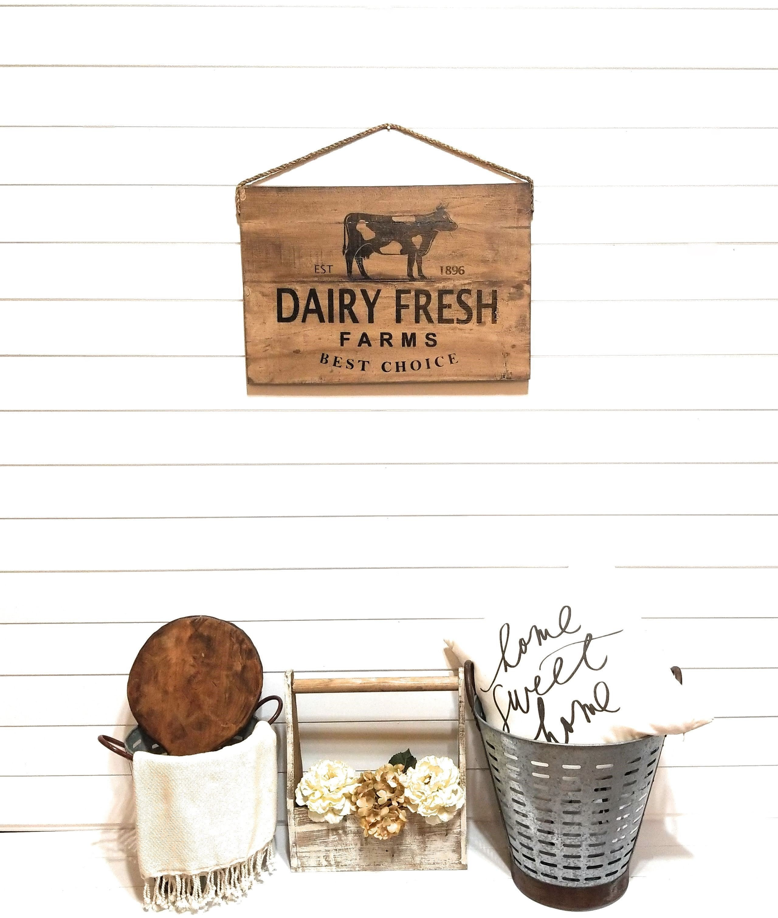 Dairy Fresh Rustic Cow Country Memo Board