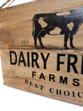 sign Dairy Fresh Cow Wood Farmhouse Sign - Large Farmhouse Wood Sign Farmhouse Signs