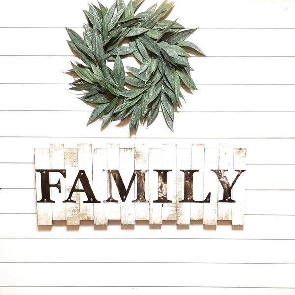 sign Large Family and Blessed Pallet Sign