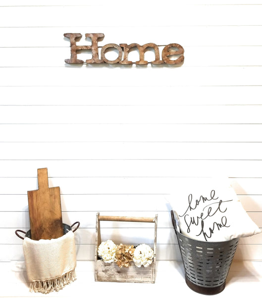 sign Home Metal Sign Rustic Home Sign Farmhouse Metal Home Sign