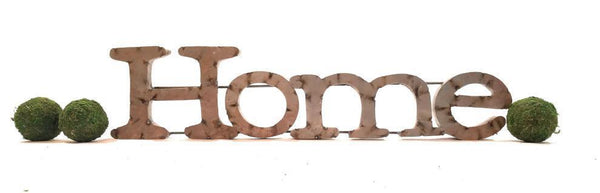 Home Metal Sign Rustic Home Sign Farmhouse Metal Home Sign - Ranch Junkie