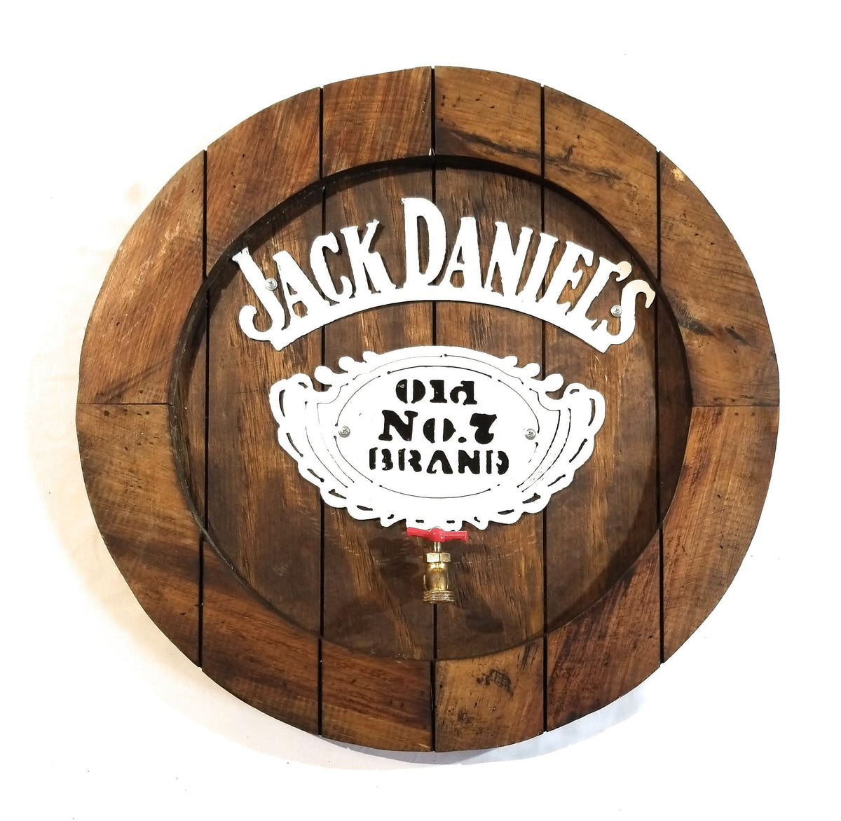 Shopping For Home Decor: Jack Daniels Large Wooden Whiskey Barrel Sign With Spout