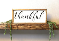 sign Thankful Farmhouse Wood Sign