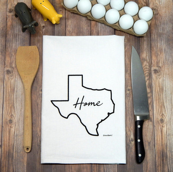 tea towels Texas Home, Texas State Outline Tea Towel