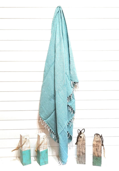 throw Solid Handwoven Throw- Mint