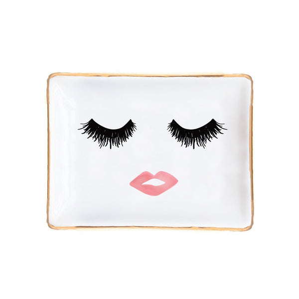 trinket trays Lashes and Lips Jewelry Dish