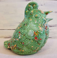 Vintage Ceramic Quail Partridge Figurine Shaker - Green Speckled VintageRanch Junkie