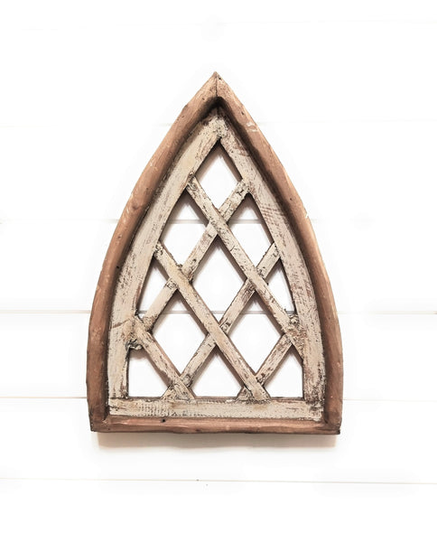 wall windows Mini Lattice Cathedral Wood Window - The Mini Lattice Cathedral