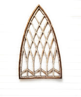 wall windows Distressed White Farmhouse Wooden Wall Window Arch Wood Window-  Whispering Pines Cathedral