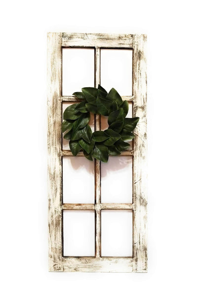 wall windows Large Farmhouse White Wooden Wall Window 8 Panel Rectangle Wood Window - The Loyal Creek