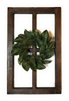 wall windows Rustic Farmhouse Wooden Wall Window 4 Panel  Rectangle Wood Window - The Deer Creek