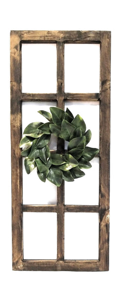 wall windows Rustic Farmhouse Wooden Wall Window 8 Panel Rectangle Wood Window - The Bear Creek