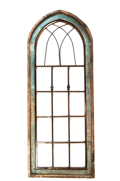 wall windows Farmhouse Arched Wood and Metal Window-2 Colors- The Harmony Window