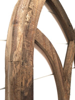 wall windows X-Large Farmhouse Wooden Wall Window Arch -Tall Wood Window- Tall Oaks- Farmhouse Brown
