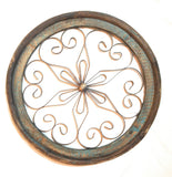 Round Wood Metal Window - Round Window- Round Architectural Window- The Spanish Beauty Window windowRanch Junkie