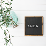 wooden sign 3D Amen Sign - Farmhouse Sign Black