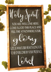 Holy Spirit Farmhouse Sign, You are Welcome Here Holy Spirit Song Sign wooden signRanch Junkie