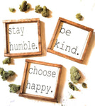 Choose Happy Sign, Choose Grace Sign Be Kind Stay Humble Framed Wood sign wooden signRanch Junkie