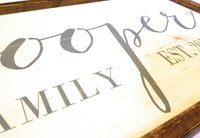 Custom made Family Name & Established date Wood Sign - Ranch Junkie