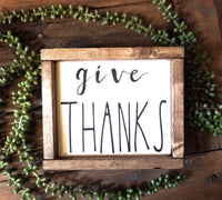 wooden sign Give Thanks Farmhouse Wood Sign Rae Dunn Inspired