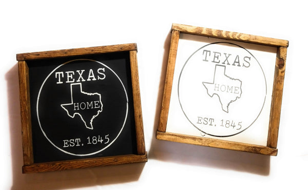Texas Seal Home Sign, Established Texas Sign, Texas Home Sign Texas Seal Sign - Ranch Junkie