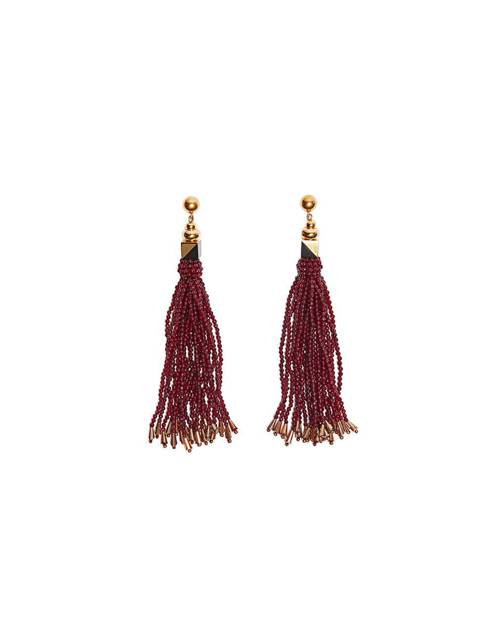 Marie Fringe Earrings (stud)