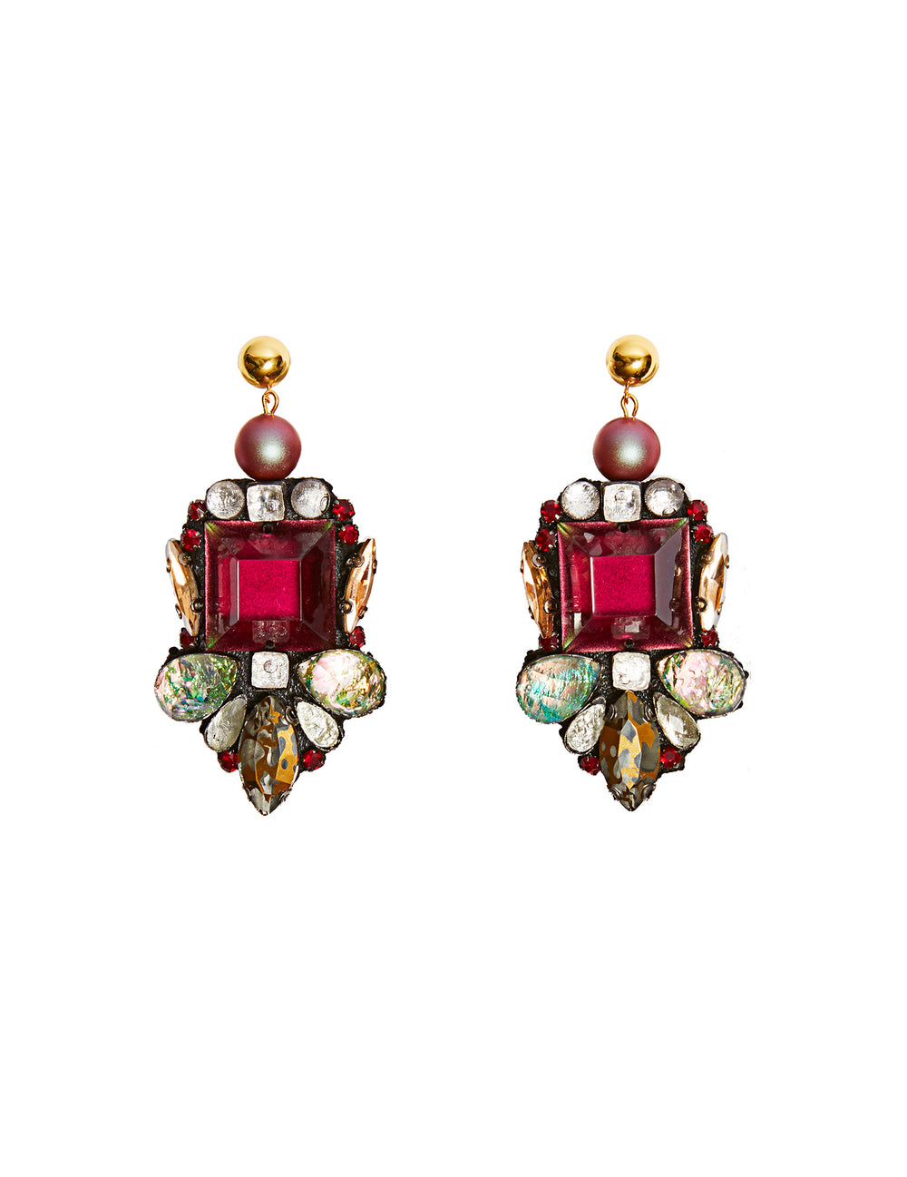 Parure red earrings (stud)