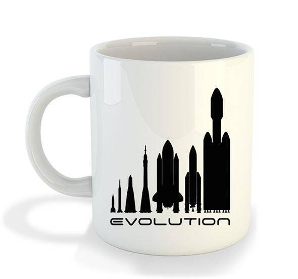 Evolution Mug - SpaceX  merchandise