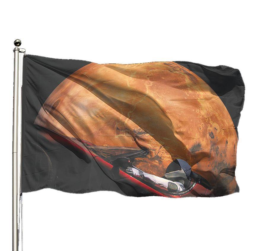 Occupy Mars Starman Flag - SpaceX  merchandise