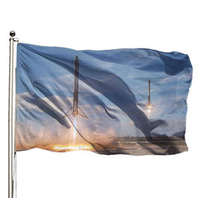 Rockets Returning Flag - SpaceX  merchandise