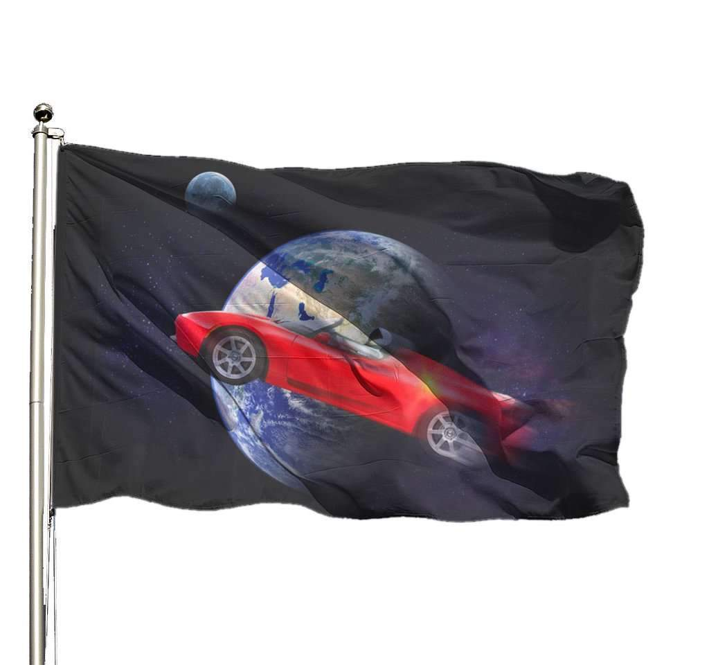 Starman flag - SpaceX  merchandise