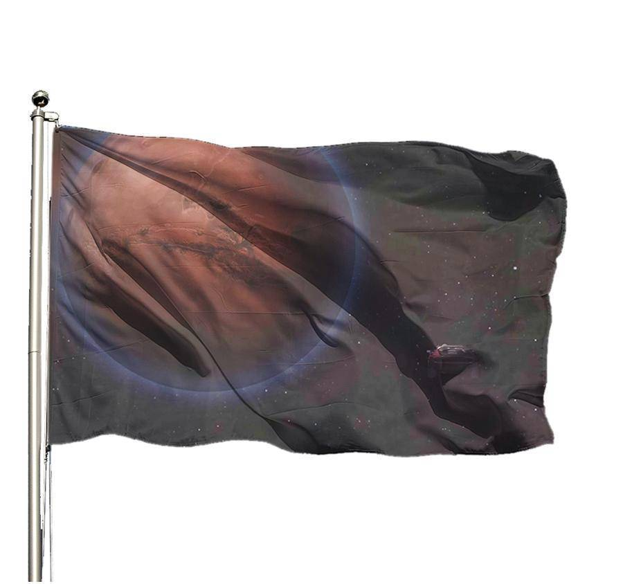 Starman Road to Mars Flag - SpaceX  merchandise
