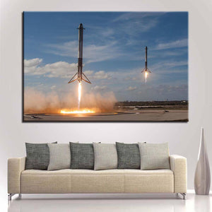 Rockets Returning Poster - SpaceX  merchandise
