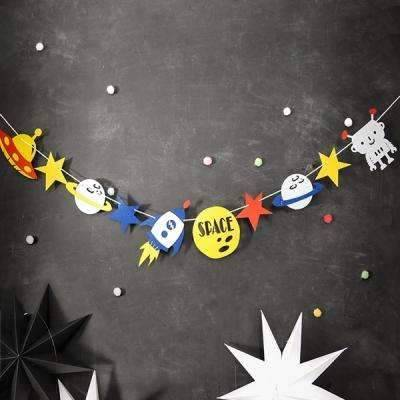 Space Decoration For Kid Birthday - SpaceX  merchandise