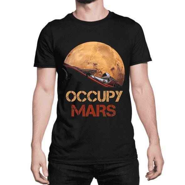 Occupy Mars Starman T Shirt - Space Shop